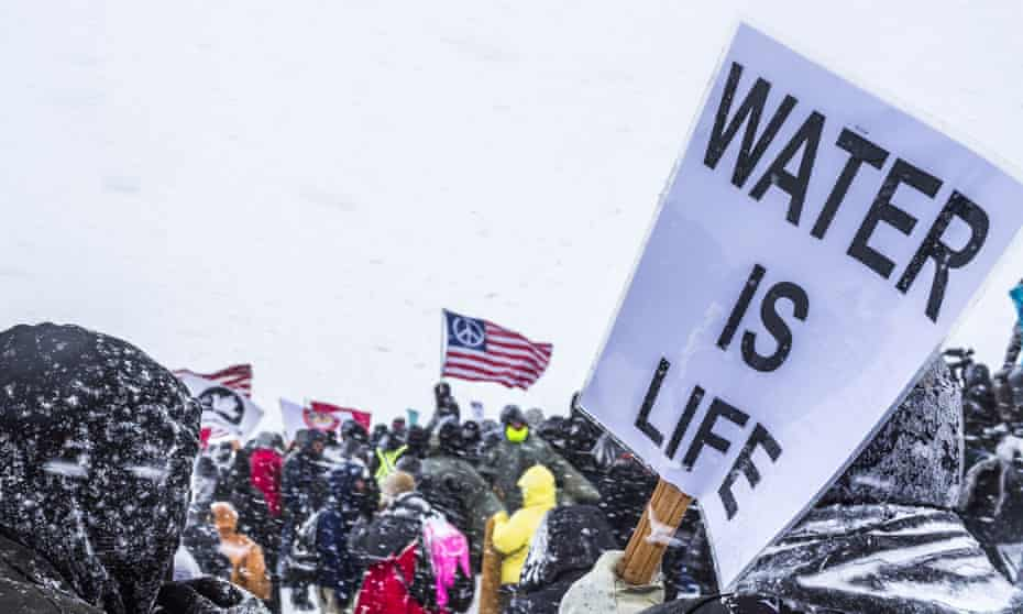 'Water protectors' at Standing Rock. True Cos, the operator of the ruptured Belle Fourche pipeline, has a history of oil field-related spills.