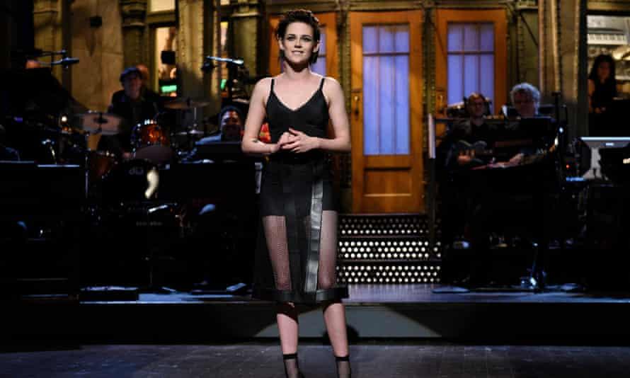 Kristen Stewart on Saturday Night Live in 2017.