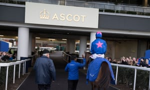 Cue Card returning to the Ascot unsaddling area after running in the Betfair Chase there last year.