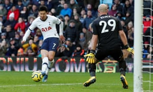 Son Heung-min broke through to score the winner in injury time.