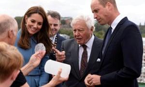 the duke and duchess of cambridge and david attenborough