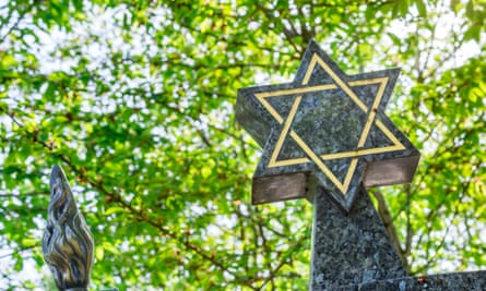 Star of David in a Jewish cemetery