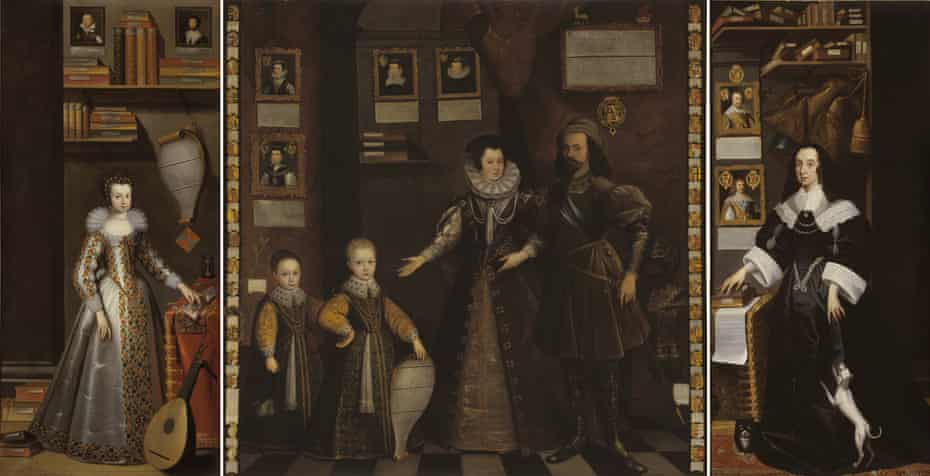 Protofeminist … Lady Anne Clifford in The Great Picture, 1646 (H254cm x W359cm) by Jan van Belcamp.