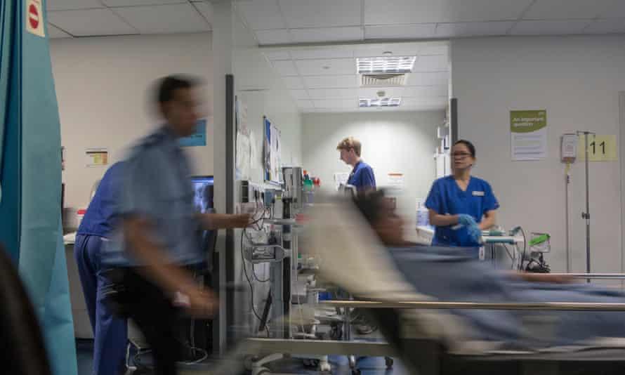 Busy A&E ward at a hospital