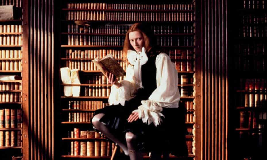 Tilda Swinton as orlado in the 197? film of Virginia Woolf's novel.