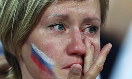 Blood, sweat and beers: Russia down but proud after World Cup exit