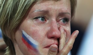 A Russia fan comes to terms with the team's defeat by Croatia in the World Cup quarter-finals.