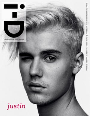 Justin Bieber's winter 2015 i-D magazine cover.