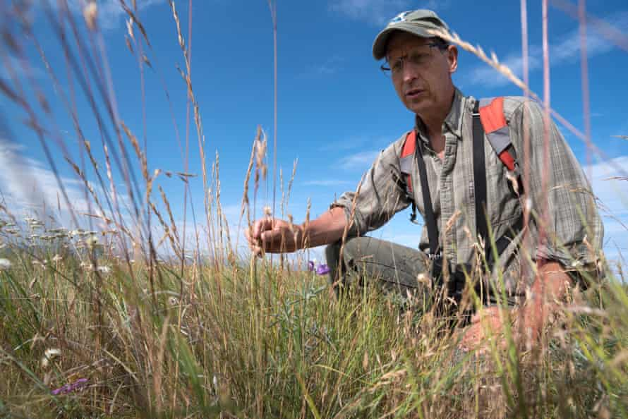 Jeff Fields, the programme manager for The Nature Conservancy's Zumwalt Prairie Preserve.