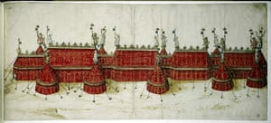 A design for the elaborate tent the king hoped would impress François 1.