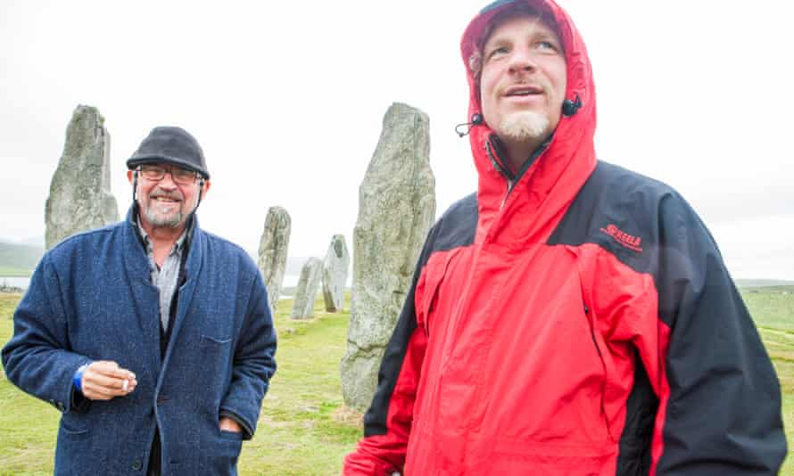 The author with Malky Maclean at the Callanish stones.