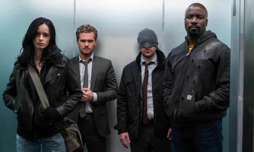 Our baddie-bashers … The Defenders.
