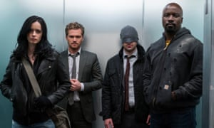 Jessica Jones, The Iron Fist, Daredevil and Luke Cage of The Defenders.