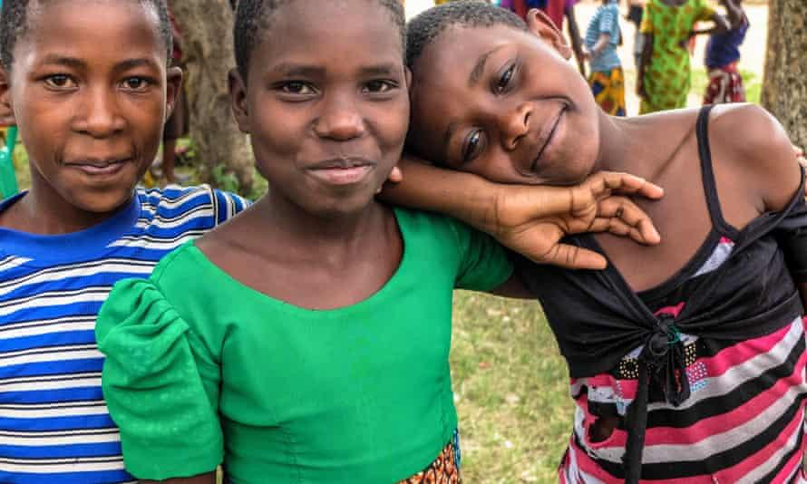 Tanzanian girls at a safe house in Mugumu, Serengeti district