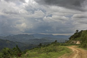 The Itombwe mountain counts many peaks in its range, and the accessibility is limited at the only road that connects it with Bukavu. Not many vehicles venture on the bumpy track.