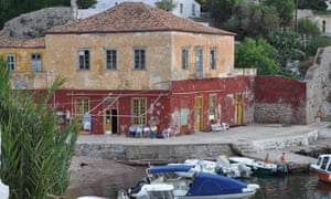 The taverna (now closed) at Kamini on Hydra where Cohen sometimes went