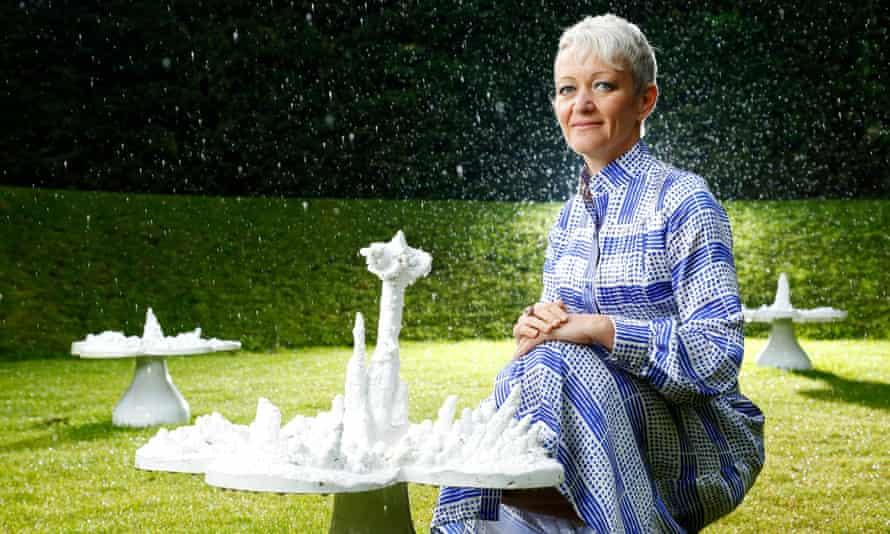 Maria Balshaw, Tate's new director, peruses Helen Chadwick's 'Piss Flowers'.