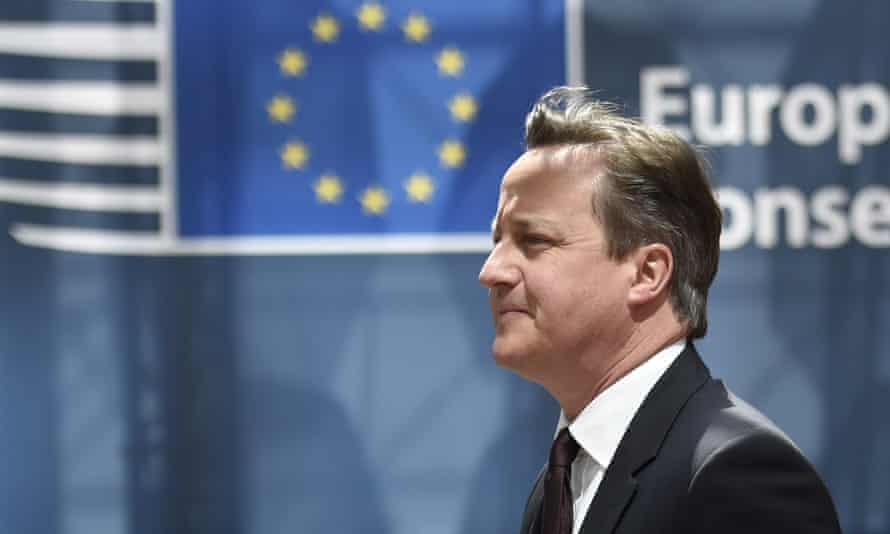 David Cameron, British prime minister,  arrives for an EU summit at the EU headquarters in Brussels