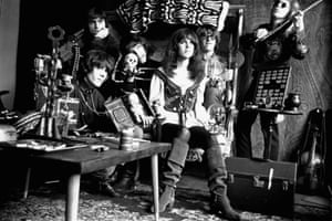 Jefferson Airplane pose for a portrait in San Francisco, 3 August 1968.