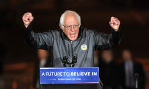 Bernie Sanders spoke at a rally in New York before he headed to the Vatican.