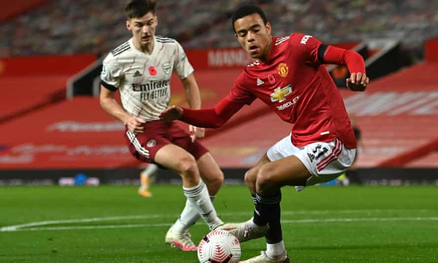 Mason Greenwood in action for Manchester United against Arsenal last weekend.