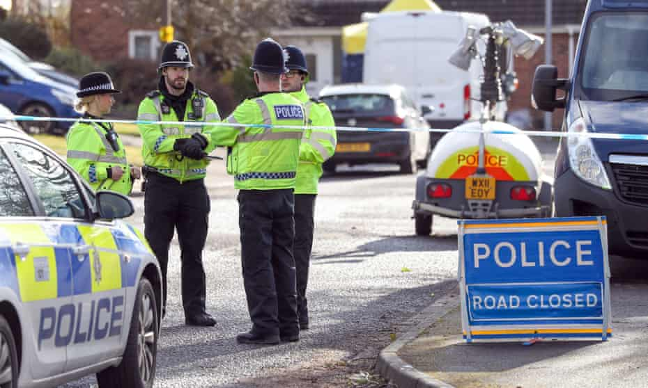Police activity in Salisbury near the home of former Russian double agent Sergei Skripal.