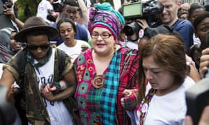 Founder of Kids Company Camila Batmanghelidjh at a protest in August 2015. Scotland Yard has dropped an investigation into report of abuse linked to the charity