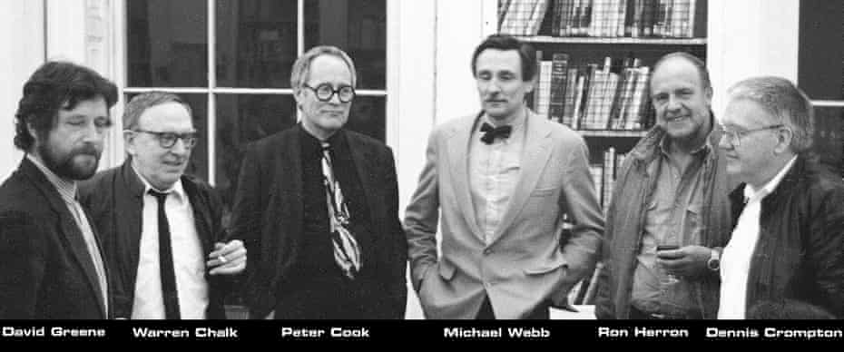 The six members of Archigram in 1987.