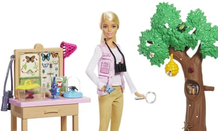 Entomologist Barbie, part of the new range produced in collaboration with national geographic.
