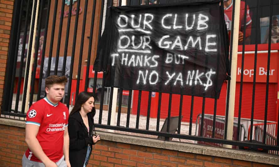 Sign says our club our game thanks but no yanks