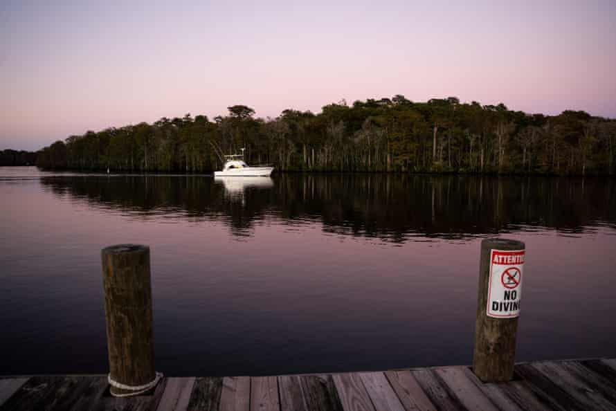 A boat on the Waccamaw River, 23 September 2021.