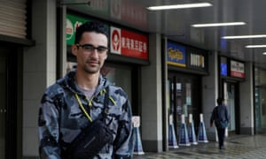 Rennan Yamashita, a Brazilian worker who was recently laid off from his job in Tsu, Mie Prefecture, Japan 23 April 2020.