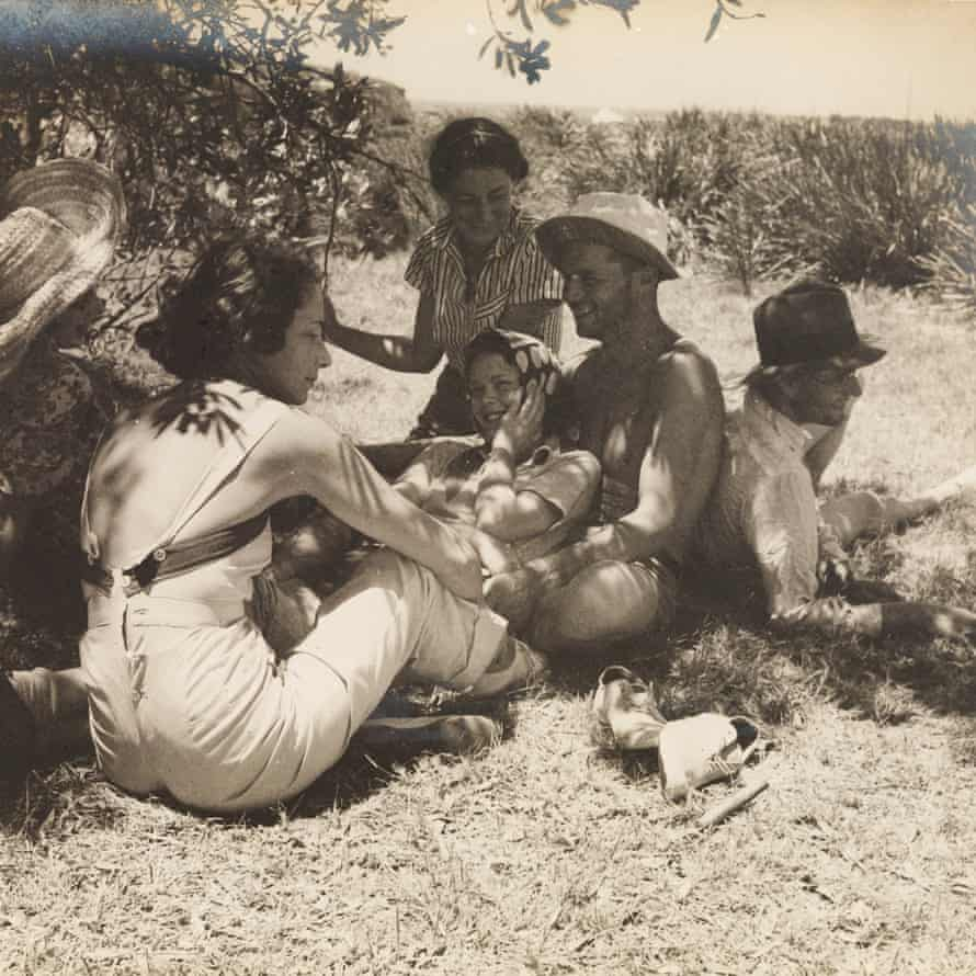 A photo from the camping trip in 1938