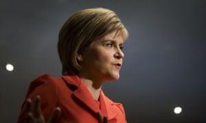 Nicola Sturgeon, the leader of the SNP.