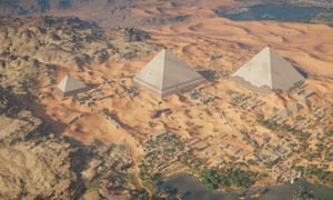 The same area as seen in Assassin's Creed Origins