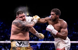 Anthony Joshua (right) punches Andy Ruiz Jr during their world heavyweight title fight in Diriyah, Saudi Arabia