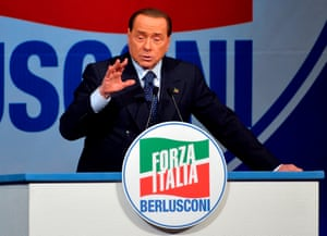Silvio Berlusconi in Sicily last November in a vote seen as a bellwether for the general election.