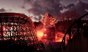 Alton Towers WickermanEmbargo: 00:01 Friday 16th February 2018 Alton Towers Resort release first look images of £16m thrill attraction, Wicker Man, fusing wood with fire and launching this Spring. For further information please contact the Alton Towers team at The Academy at joel@theacademypr.com or on 07729224771 PR Handout - free for editorial usage only. Photographer's name must remain part of credit metadata when distributed by agencies Credit: Mikael Buck / Alton Towers Copright: © Mikael Buck