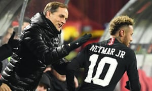 Paris Saint-Germain's coach Thomas Tuchel (left) has promised to work Neymar hard after an unsettling summer for the club.