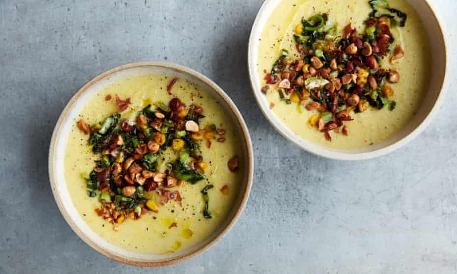 Anna Jones's corn and cauliflower chowder.