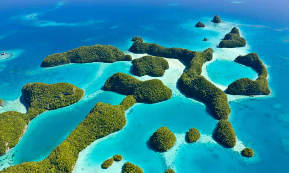 Palau, an archipelago of over 500 islands, part of the Micronesia region in the western Pacific Ocean.