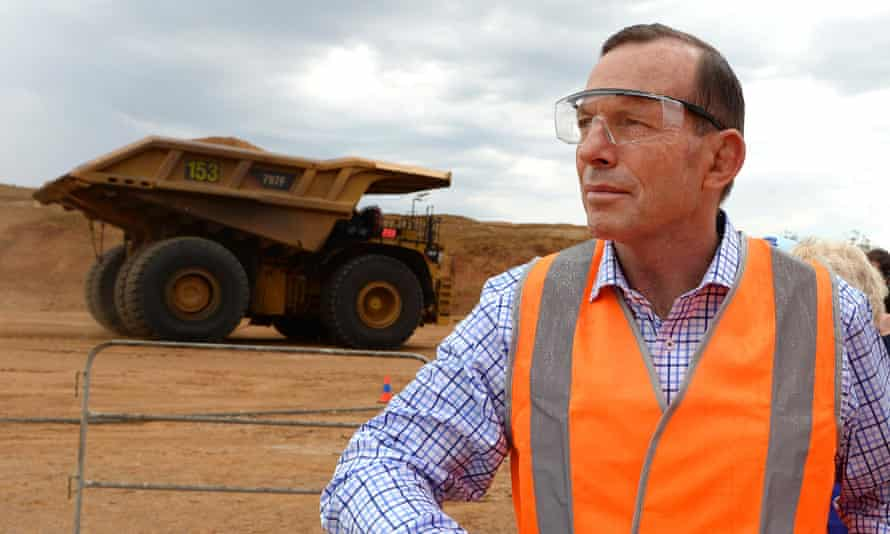 Tony Abbott at the opening of the Caval Ridge coalmine near Moranbah in central Queensland last year.