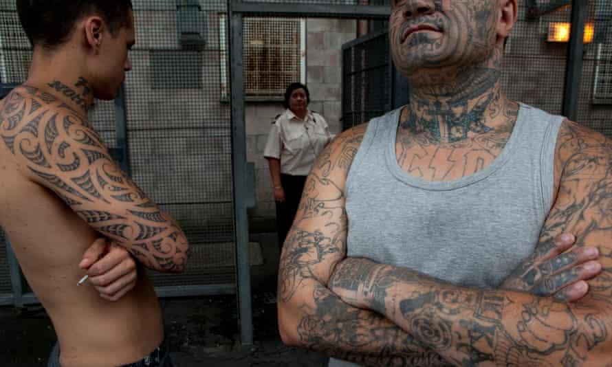 Maori inmates at Waikeria prison.
