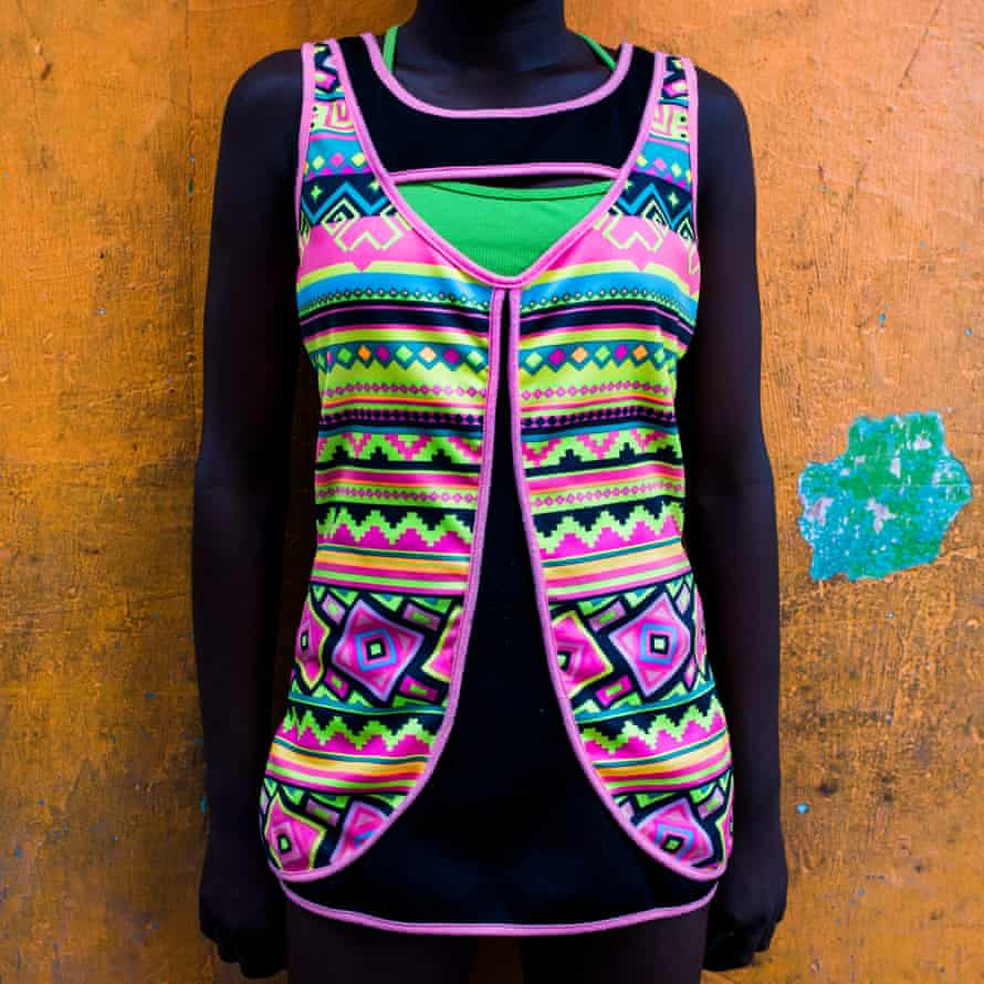 Brightly patterned top