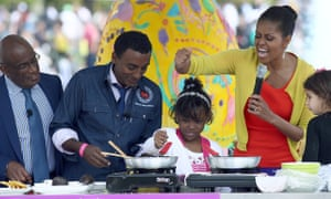 Marcus cooks with first lady Michelle Obama