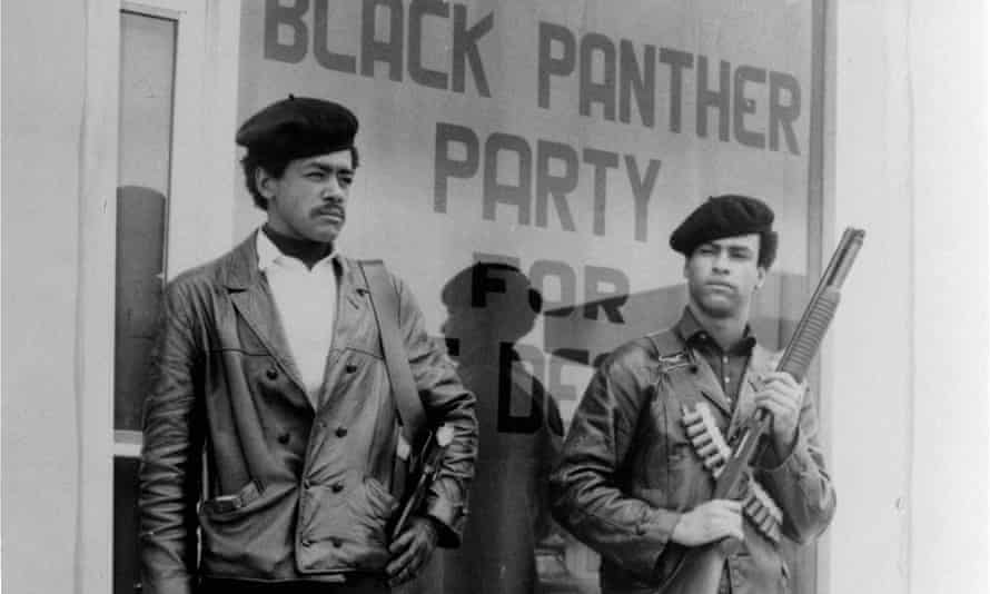Bobby Seale (left) and Huey Newton in Oakland, California (undated photograph).