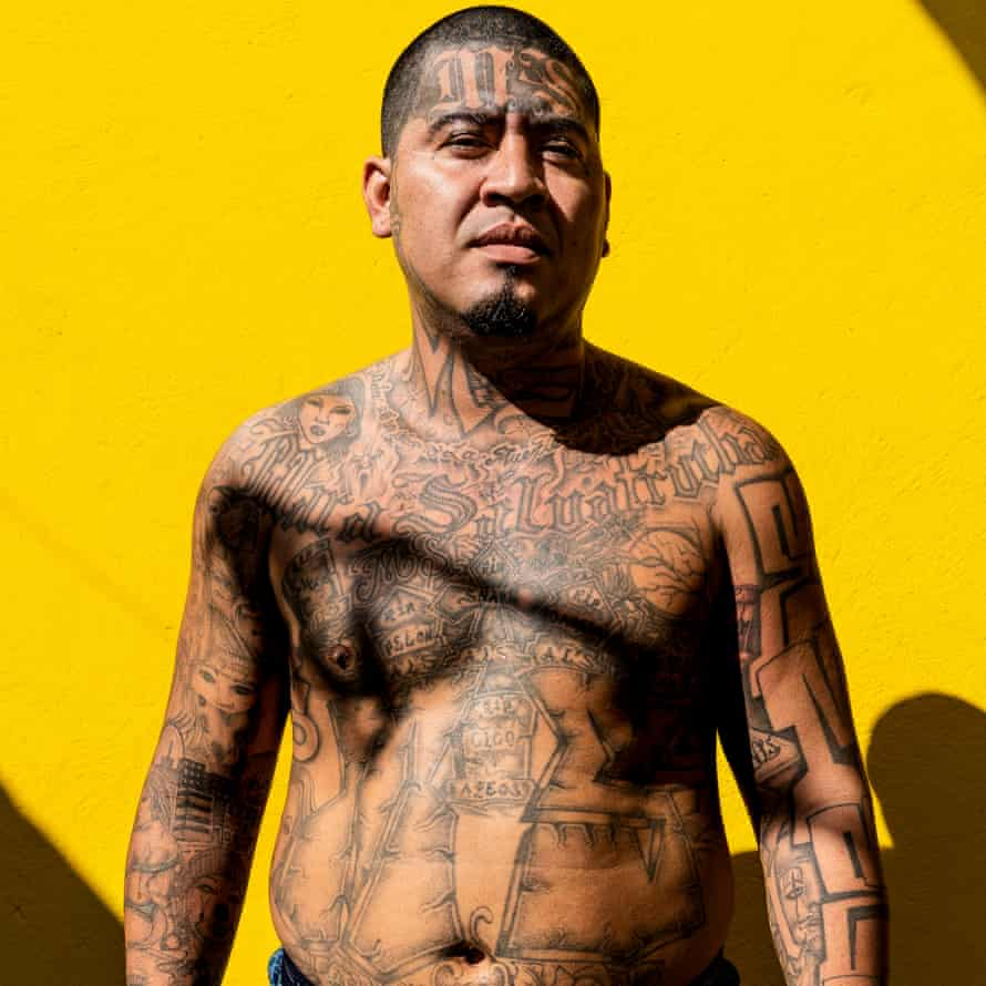 Jonathan, 28, stands for a portrait at the Chalatenango penal centre