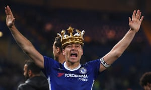 John Terry dons a crown after a goalscoring display on what may prove his final game for Chelsea.