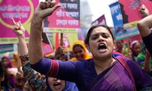 Bangladeshi garment workers rally