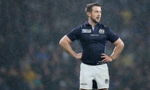 Scotland's Greig Laidlaw appears dejected after the Rugby World Cup match at Twickenham against Australia